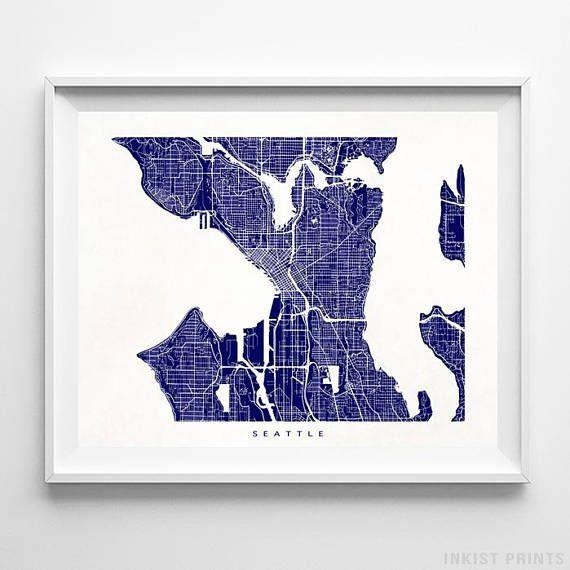 Best 25+ Seattle Map Ideas On Pinterest | Seattle Street, Seattle Pertaining To Seattle Map Wall Art (Image 3 of 20)