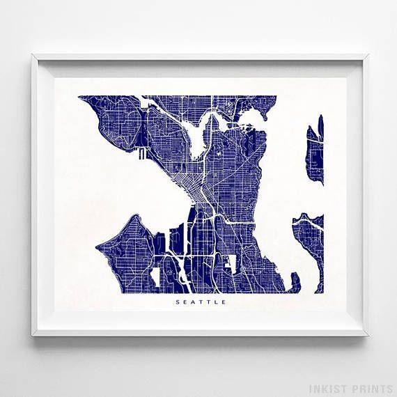Best 25+ Seattle Map Ideas On Pinterest | Seattle Street, Seattle Pertaining To Seattle Map Wall Art (View 11 of 20)