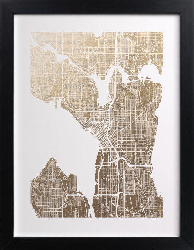 Best 25+ Seattle Map Ideas On Pinterest | Seattle Street, Seattle Pertaining To Seattle Map Wall Art (View 4 of 20)