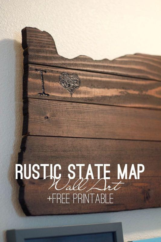 Best 25+ State Map Ideas On Pinterest | Track Distance On Map With State Map Wall Art (Image 2 of 20)