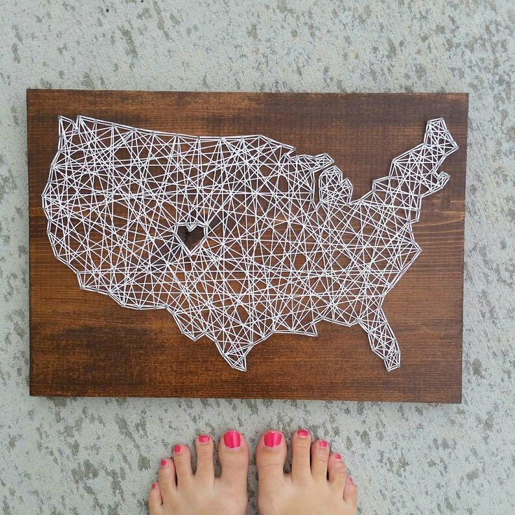 Best 25+ String Art States Ideas On Pinterest | Texas String Art Inside String Map Wall Art (View 16 of 20)