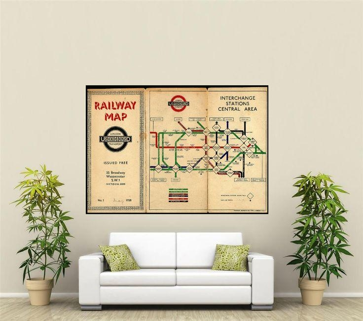 Best 25+ Underground Tube Map Ideas On Pinterest | London In London Tube Map Wall Art (View 18 of 20)