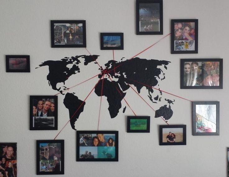 Best 25+ Wall Maps Ideas On Pinterest | Map Wallpaper, Map Bedroom Throughout Travel Map Wall Art (Image 7 of 20)
