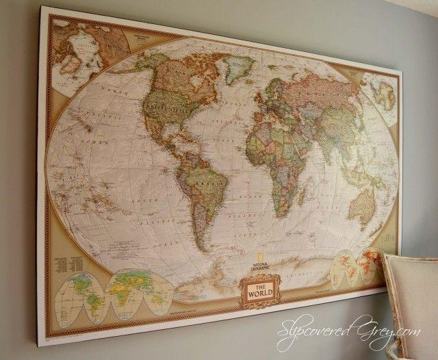 Best 25+ Wall Maps Ideas On Pinterest | Map Wallpaper, Map Bedroom With Regard To Framed Map Wall Art (Image 4 of 20)