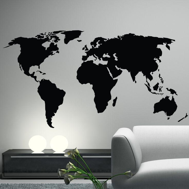 Best 25+ World Map Wall Decal Ideas On Pinterest | World Map Decal Intended For World Map Wall Art Stickers (Image 3 of 20)
