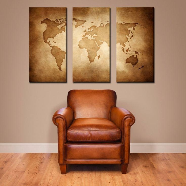 Best 25+ Wrold Map Ideas On Pinterest | World Map Wall, Map Wall For Old Map Wall Art (Image 3 of 20)