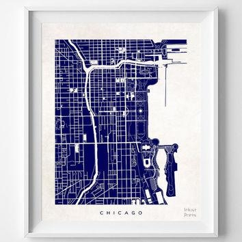 Best Chicago Wall Decor Products On Wanelo Regarding Chicago Map Wall Art  (Photo 15 Of