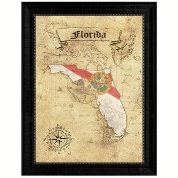 Best Florida State Decor Products On Wanelo Pertaining To Florida Map Wall Art (Image 6 of 20)