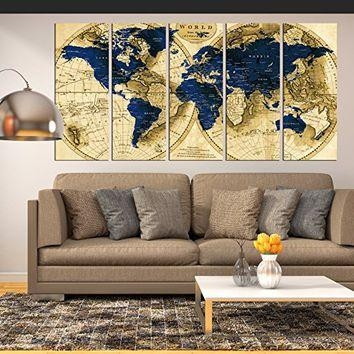 Best Large Map Decals Products On Wanelo Within Large Map Wall Art (Image 2 of 20)