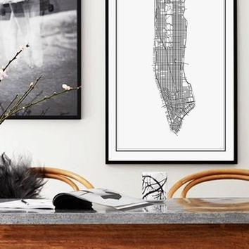 Best New York City Print Maps Products On Wanelo With New York City Map Wall Art (View 18 of 20)