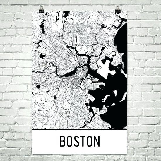 Boston Wall Art Black And Website Inspiration Wall Art Boston Map Pertaining To Boston Map Wall Art (View 10 of 20)