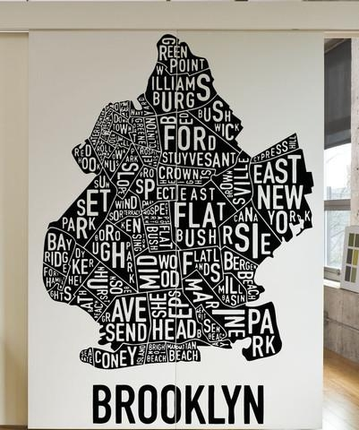 Featured Image of Brooklyn Map Wall Art