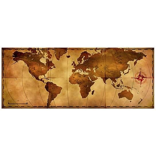Buy World Map Wall Art 'old World Map' Aged Antique Style – Metal For Treasure Map Wall Art (Image 3 of 20)