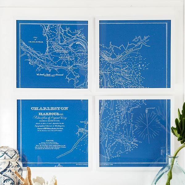 Charts Wall Art – Wall Art – Wisteria With Regard To Nautical Map Wall Art (View 4 of 20)