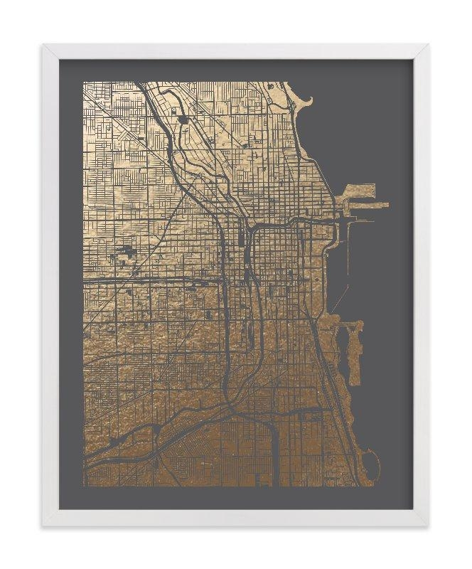 Featured Image of Chicago Map Wall Art