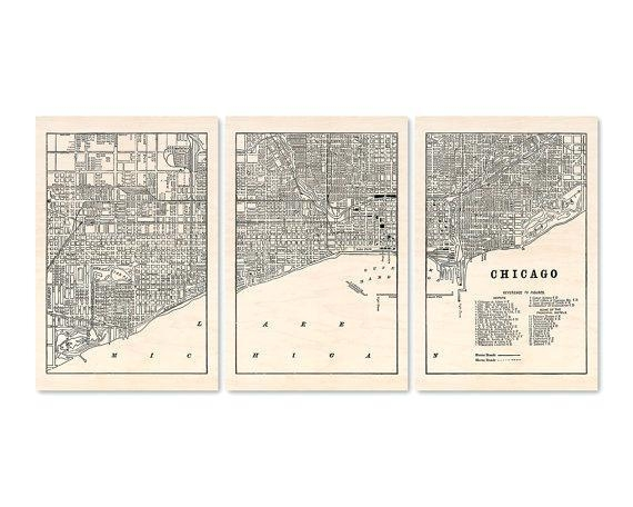 Chicago Map Wall Art – Hydroloop Inside Chicago Neighborhood Map Wall Art (Image 2 of 20)