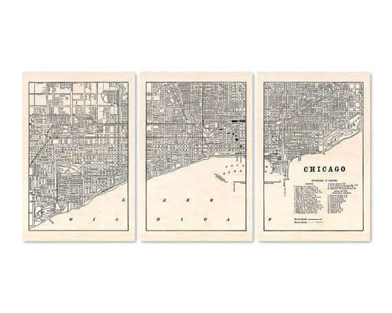 Chicago Map Wall Art – Hydroloop Inside Chicago Neighborhood Map Wall Art (Image 2 of 20)