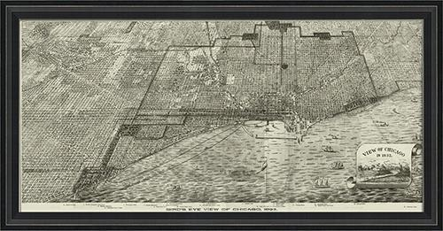 Chicago Map Wall Art Map Framed Wall Art Chicago Neighborhood Map For Chicago Neighborhood Map Wall Art (Image 10 of 20)