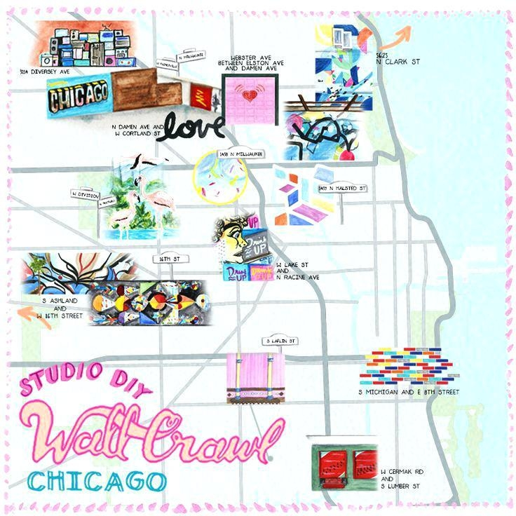 Chicago Map Wall Art The Best Walls In Chicago Neighborhood Map Pertaining To Chicago Neighborhood Map Wall Art (Image 14 of 20)