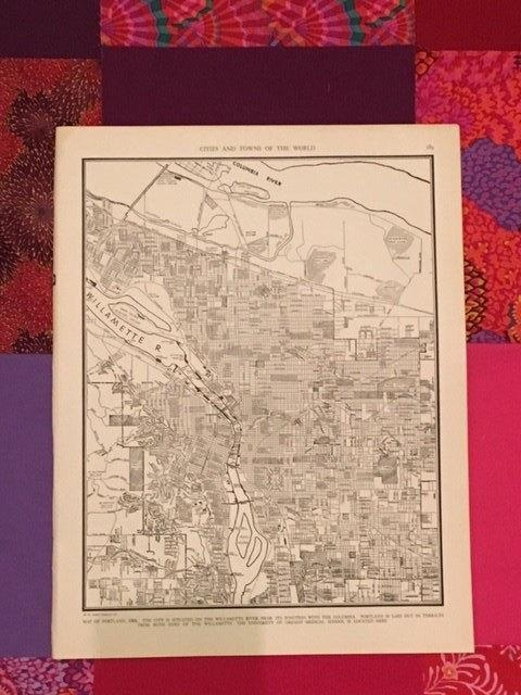 City Of Portland Map / Antique Map Of Portland Oregon / With Portland Map Wall Art (Image 6 of 20)