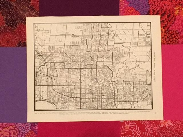 City Of Toronto Map / Vintage Map Decor / City Map Wall Art / For Map Wall Art Toronto (View 15 of 20)