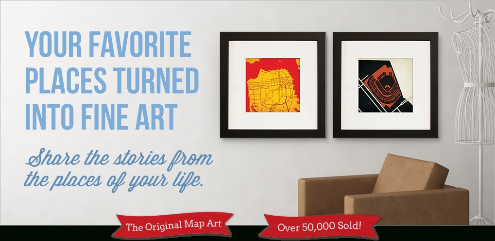 Featured Photo of City Prints Map Wall Art