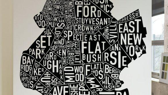 Clever Design Ideas Brooklyn Wall Art Bridge Canvas Metal Ny Glass For Brooklyn Map Wall Art (Image 8 of 20)