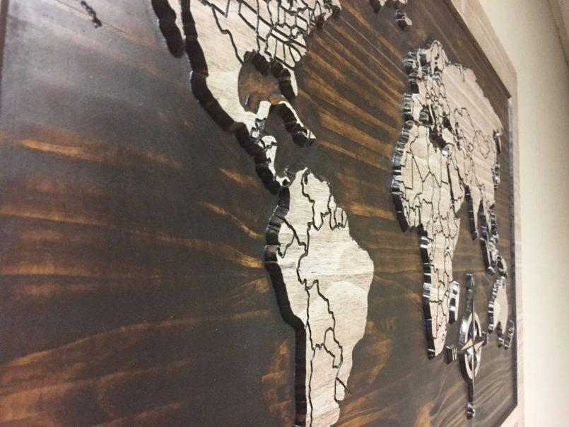 Colors : Wooden World Map Art As Well As World Map Wall Art Canada With Map Wall Art Canada (Image 6 of 20)
