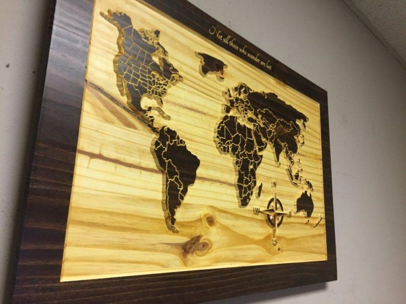 Colors : World Map Wall Art Canada Also Wooden World Map Art As Inside Map Wall Art Canada (Image 7 of 20)