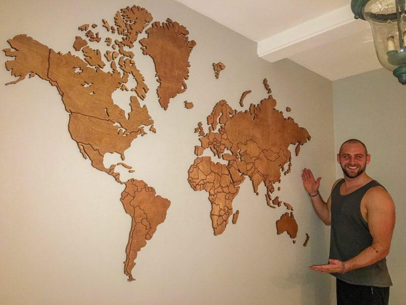 Colors : World Map Wall Art South Africa As Well As World Map Wall Within Africa Map Wall Art (Image 11 of 20)