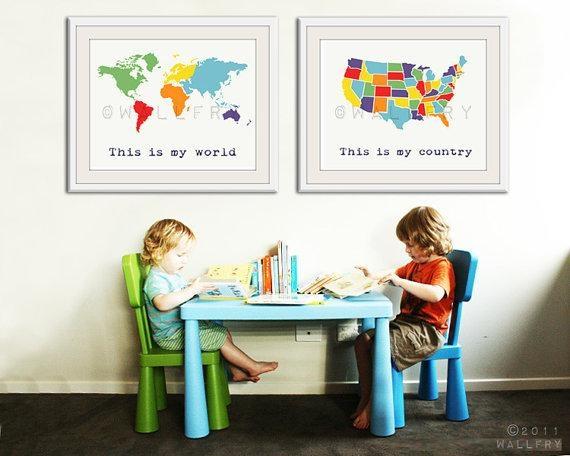 Craftionary Regarding Kids World Map Wall Art (View 6 of 20)