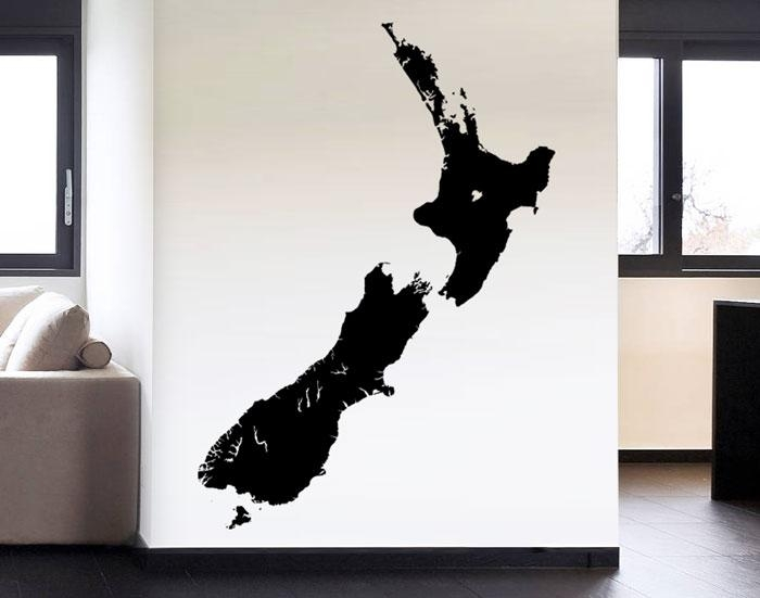 Create An Iconic Kiwi Hostel With Wall Decals – Your Decal Shop In New Zealand Map Wall Art (Image 7 of 20)