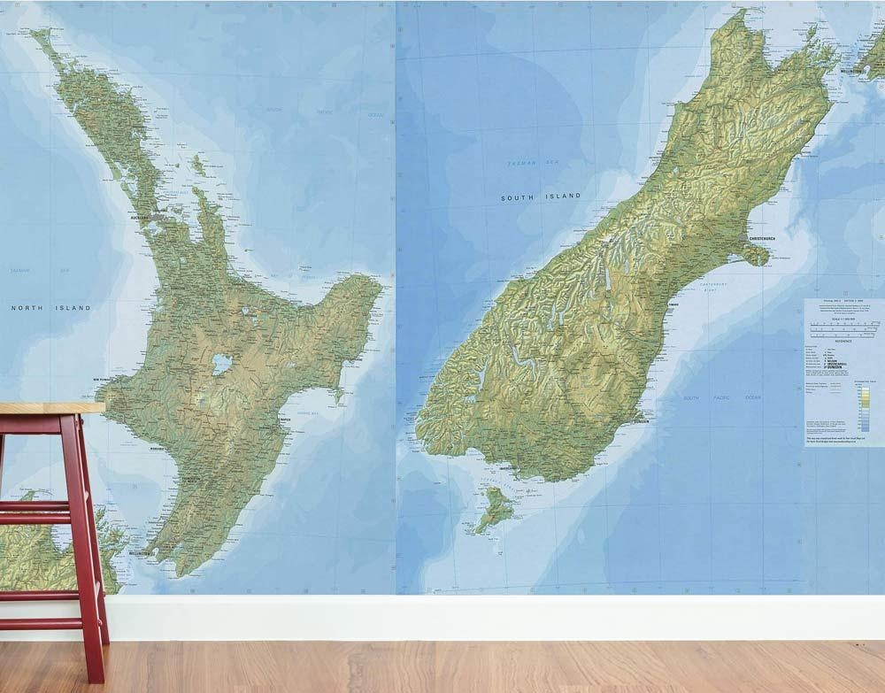 Create An Iconic Kiwi Hostel With Wall Decals – Your Decal Shop Inside New Zealand Map Wall Art (Photo 13 of 20)