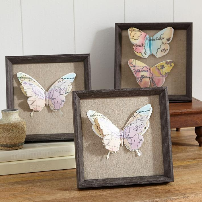 Featured Image of Butterfly Map Wall Art