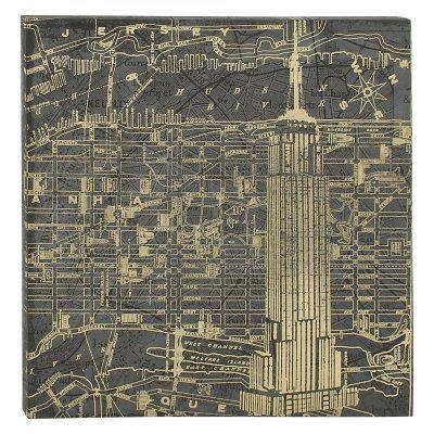 Decmode New York Map Wall Art – 52064   Products   Pinterest Intended For New York Map Wall Art (View 18 of 20)