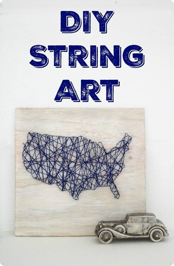 Diy Map String Art – Lovely Etc (View 6 of 20)