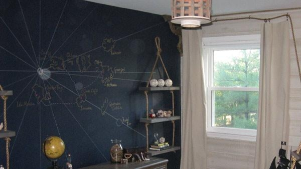 Diy Wall Mural | Knock It Off! | The Live Well Network Inside Treasure Map Wall Art (Image 5 of 20)