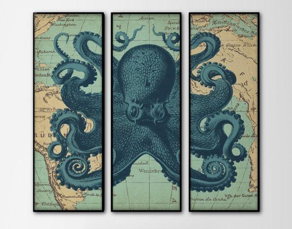 Excellent Vintage Nautical Wall Art M50 On Home Design Furniture With Regard To Nautical Map Wall Art (View 6 of 20)