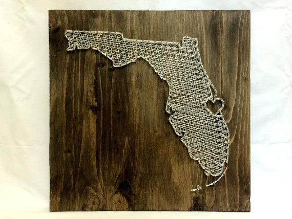 Florida Wall Art Map Print Poster Map Art City Maps Florida Keys For Florida Map Wall Art (Image 9 of 20)