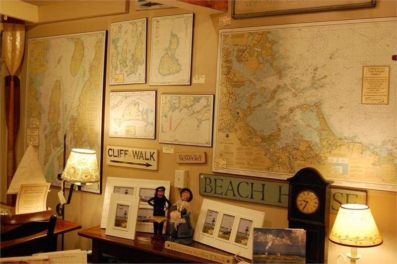 Frazzleberries Mounted Noaa Nautical Chart Maps With Regard To Nautical Map Wall Art (View 5 of 20)