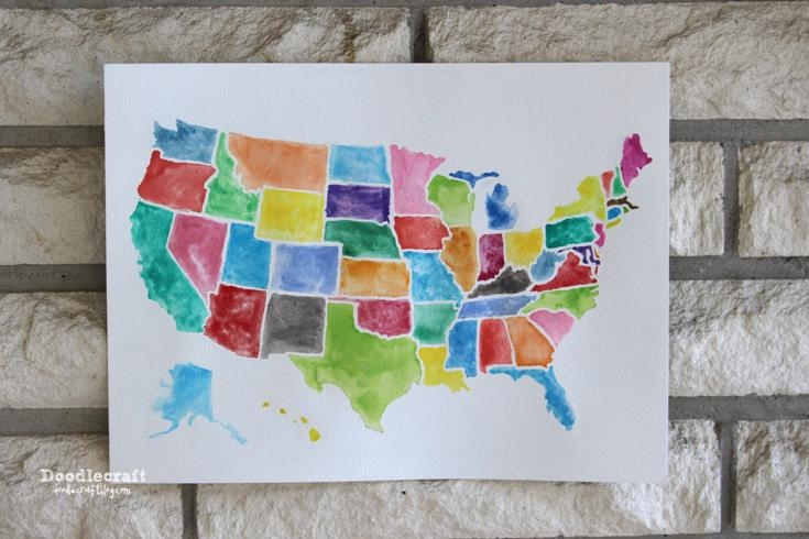 Fresh Design Us Map Wall Art Exclusive Contiguous Usa Wooden State In State Map Wall Art (Image 5 of 20)
