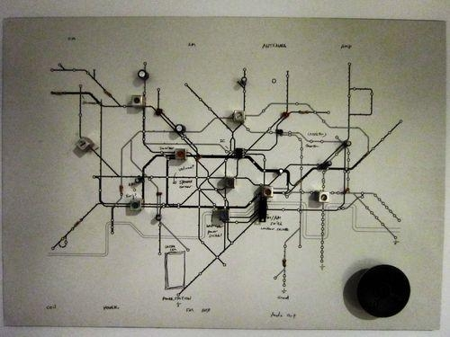 Geek Art Gallery: Crafts: Underground Circuit Map Radio Intended For London Tube Map Wall Art (View 20 of 20)