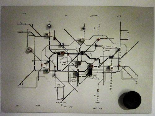Geek Art Gallery: Crafts: Underground Circuit Map Radio Regarding Tube Map Wall Art (Image 11 of 20)