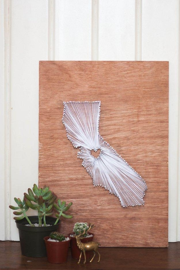 How To Make Your Own String Art Diy Projects Craft Ideas & How Regarding String Map Wall Art (View 10 of 20)