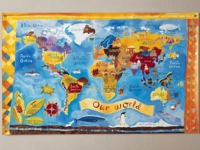 Incultureparent | 10 Best World Maps For Your Children's Room With Regard To World Map Wall Art For Kids (Image 9 of 20)