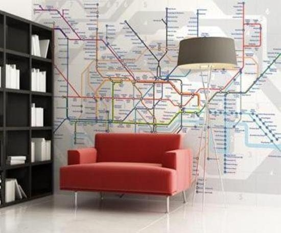 Interior Design Trend – Maps With Regard To Tube Map Wall Art (Image 12 of 20)