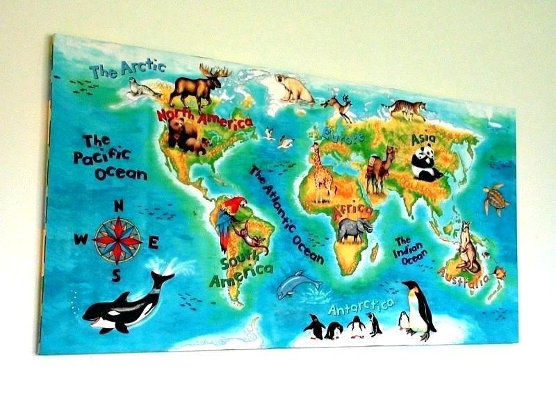 Kids Wall World Map – Cgna With Regard To Kids World Map Wall Art (View 5 of 20)