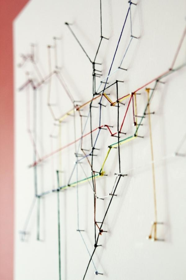 London Underground Map Made From String | Colossal In London Tube Map Wall Art (Image 14 of 20)