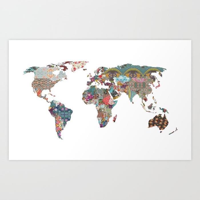 Louis Armstrong Told Us So Art Printbeegreen | Society6 With Regard To World Map Wall Art Print (Image 7 of 20)