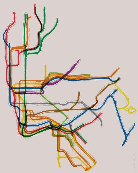 Magnificent New York Subway Map Poster And Creative Ideas Of With Regard To Nyc Subway Map Wall Art (View 19 of 20)